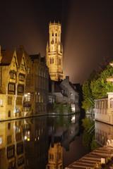 Wall Murals Bridges Brugge at Night