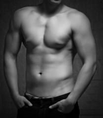 Man torso. Naked body