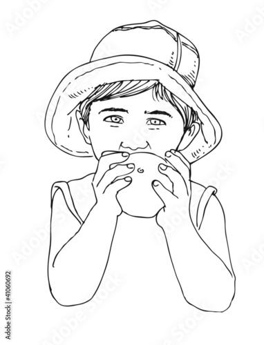 Elma Yiyen çocuk Stock Photo And Royalty Free Images On Fotoliacom