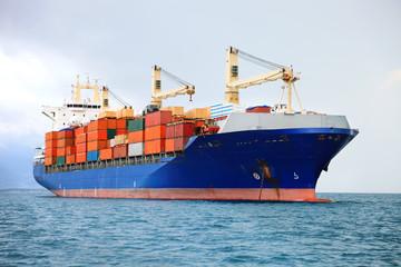 cargo container ship