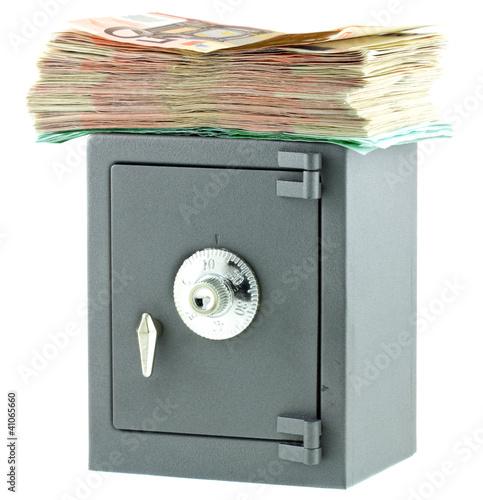 Coffre fort tirelire m tal liasse de billets photo libre de droits sur la banque d 39 images - Tirelire coffre fort ...