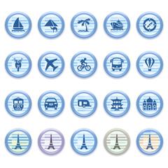 Blue web icons set 14