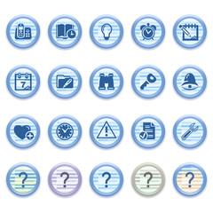 Blue web icons set 15