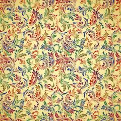 Vintage bright floral seamless pattern