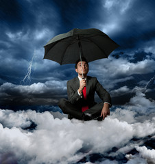 Businessman and the storm