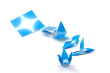 Blue Bird Origami