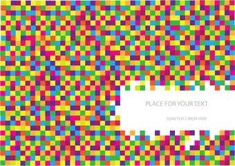 vector checkered background made of colorful cubes
