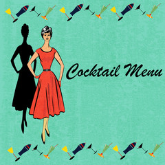 Retro Cocktail Menu