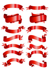 red banner ribbons