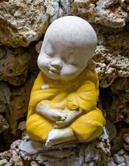 Earthenware of child monk