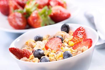 Breakfast with granola cereals