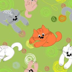 Kitten background seamless