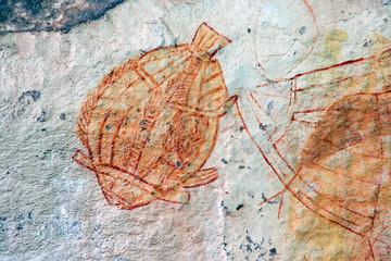 Wall Mural - Aboriginal rock art, Ubirr, Kakadu N/P, Australia
