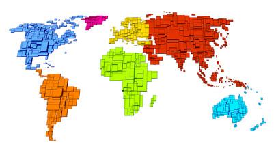 Colored World, cube design