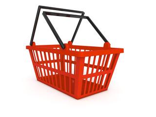 Shopping cart 3d render illustration