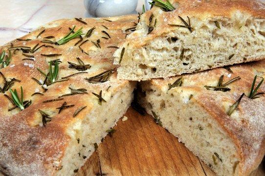 Homemade rosemary Focaccia bread © Arena Photo UK