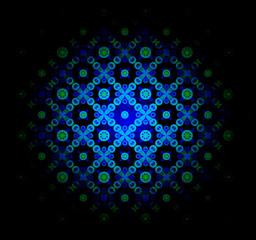 Mavi  ışıklı tekstüre fon