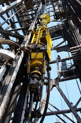 Türaufkleber Schiff Oil Drilling Rig Top Drive System (TDS) - Petroleum Industry