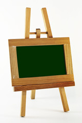 Blank chalkboard in wood frame