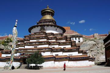 Grand pagoda at Gyangze lamasery,Tibet