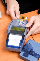 Close up Payment machine
