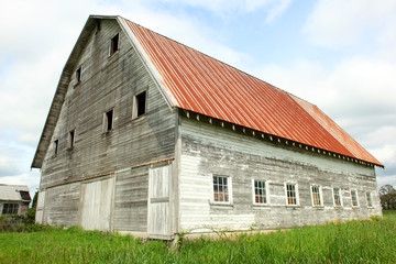 Old barn on a farm.