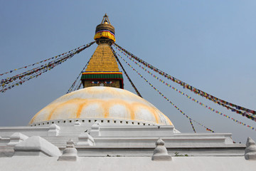 Le stupa blanc de Bodanath