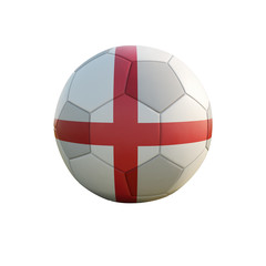 england soccer ball isolated on white