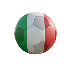 italy soccer ball isolated on white