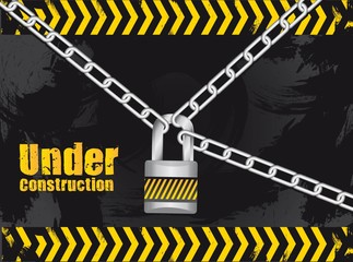 Chained under construction