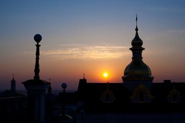 Christian church at dawn