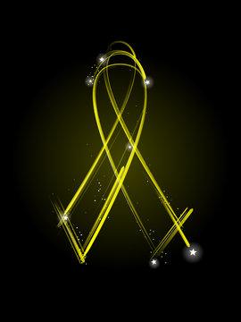 Yellow veteran's ribbon