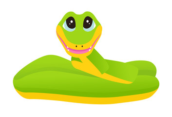 Cartoon snake. Vector illustration