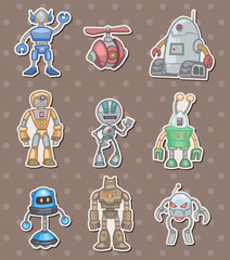 Spoed Foto op Canvas Robots robot stickers