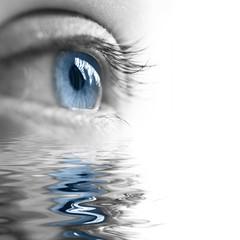 Oeil et reflet