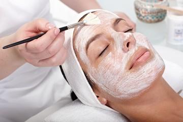 Beauty treatment at beautician