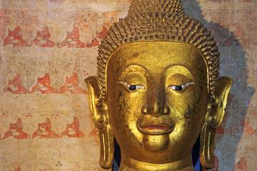 Face of the Buddha, Wat Chang Kham, Nan Province, Thailand
