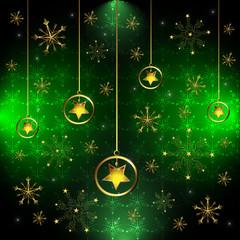 Snowflake and stars