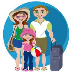 Familia lista para salir de vacaciones