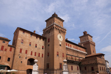 Castello Estense in Ferrara Italy