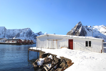 Wall Mural - Lofts and Cabins of Hamnøy
