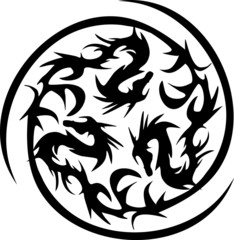 circularly black dragons
