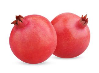 Two ripe pomegranate fruits