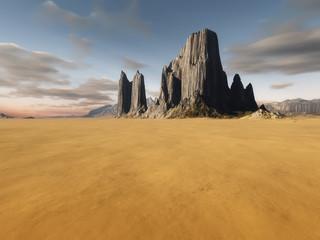 desert landscape without vegetation