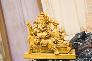 stone sculpture of indian god ganesh