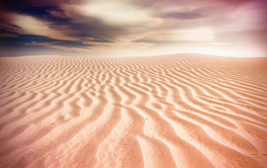 Photo sur Plexiglas Secheresse desert sunset
