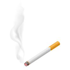 Realistic burning cigarette