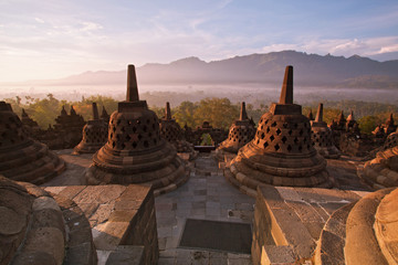 Photo sur Toile Indonésie Borobudur Temple Indonesia