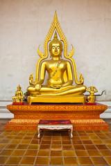 gold buddha seat