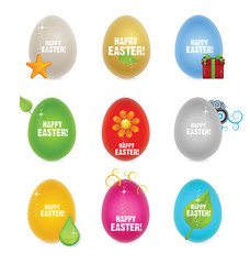 colored clean and creative nature easter eggs